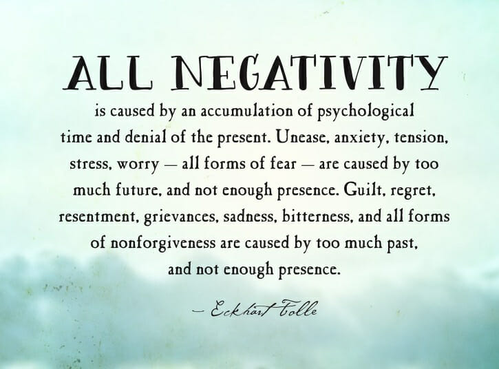 Eckhart Tolle -All Negativity