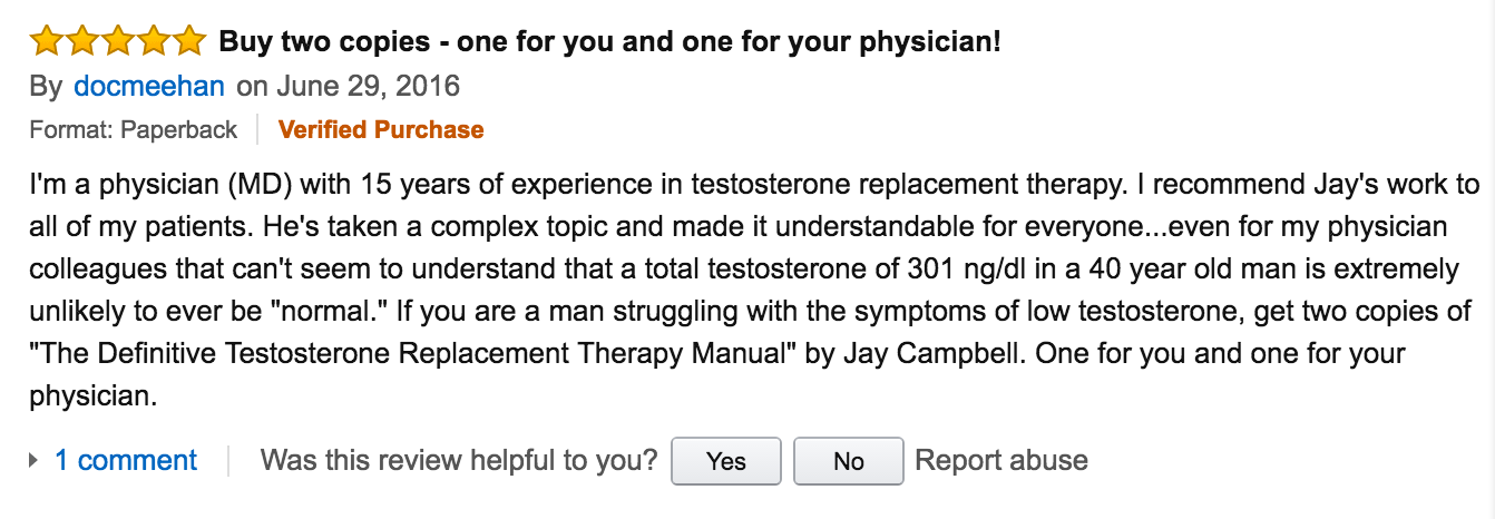 5 Star Review of the TRT MANual