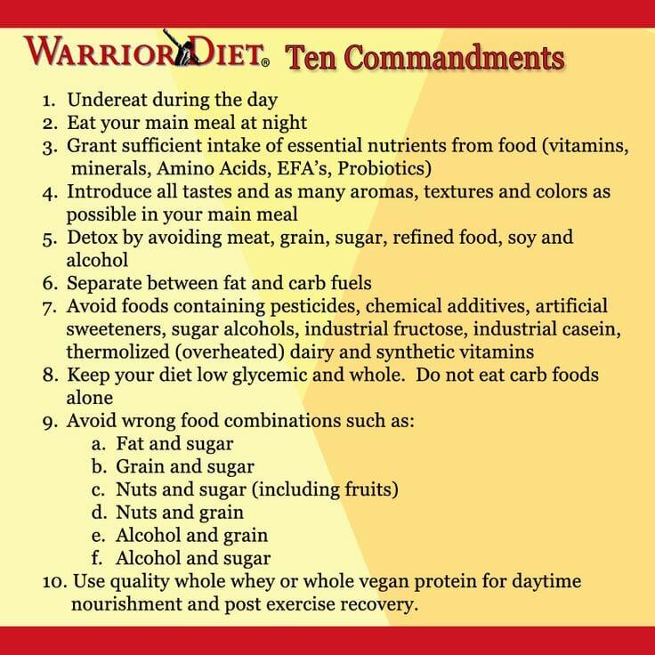 Warrior-Diet-10-Commandments